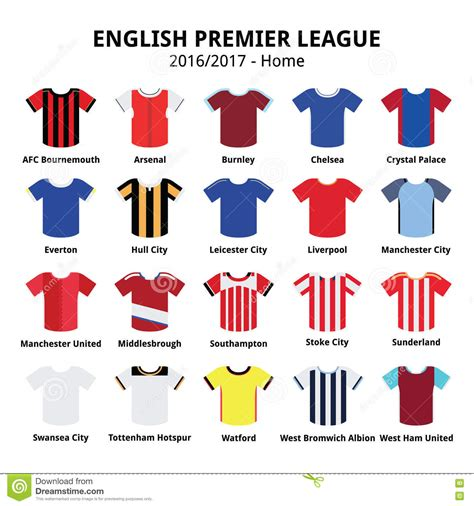 English Premier League 2016 - 2017 Football Or Soccer ...