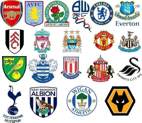 English Premier League Team Badges 2011/2012 Season ...