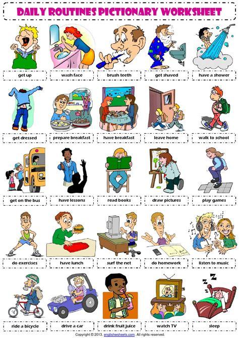 English Vocabulary - daily routines - | Rutinas, Rutinas ...