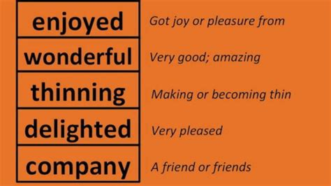 English Vocabulary - Word Meanings Part 1 of 5 - Grades 1 ...