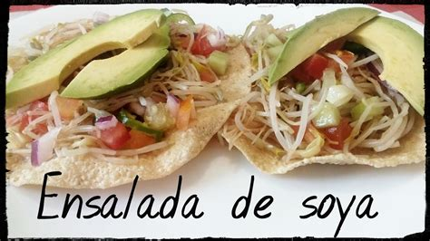 Ensalada de Soya. - YouTube
