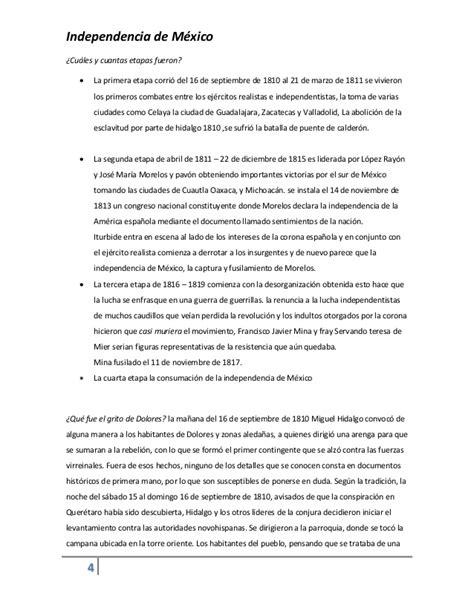 Ensayo sobre independencia de mexico