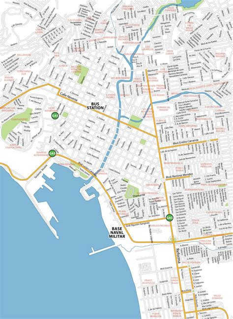 Ensenada City Map - Baja California Wiki