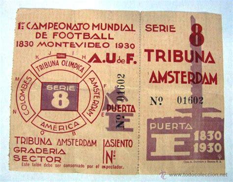 entrada original 1º primer campeonato copa mund - Comprar ...