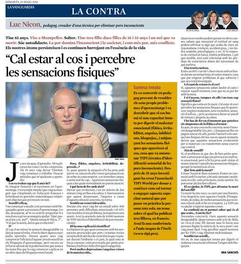Entrevista a Luc Nicon en La Vanguardia (España) | Tipi