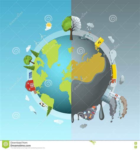 Environmental Pollution Round Concept Stock Vector ...
