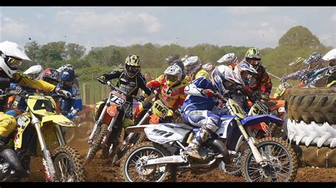Epic 125 Motocross race action - YouTube