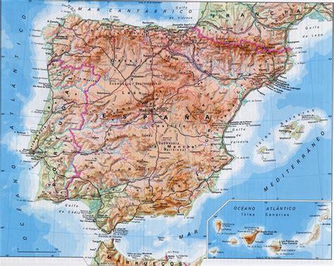 Épila Sociales 1: Mapa físico de España