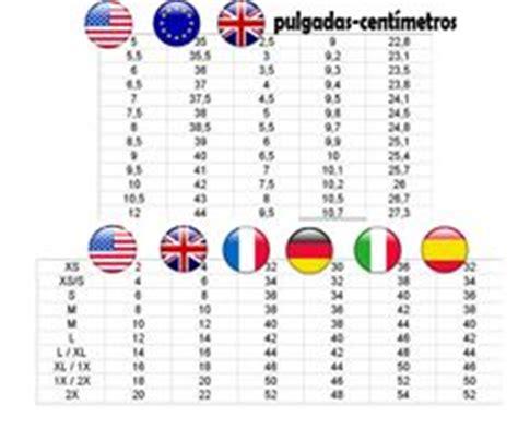 Equivalencia medidas y tallas mujer hombre USA Europa ...