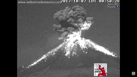 Erupcion Ciudad de Mexico, Volcan Popocatepetl 7 Octubre ...