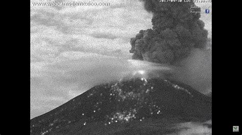Erupcion Ciudad de Mexico, Volcan Popocatepetl, Ocurrida ...