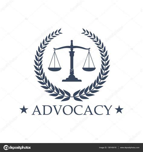 Escalas de justicia abogacía vector icono o emblema ...