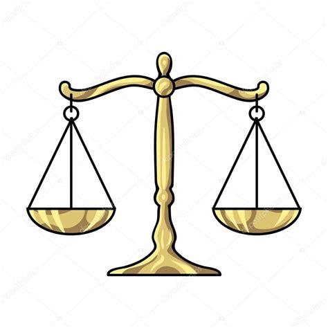 Escalas de justicia icono en estilo de dibujos animados ...