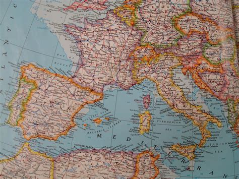 Escapades in Espana: Map of Spain, France and Italy