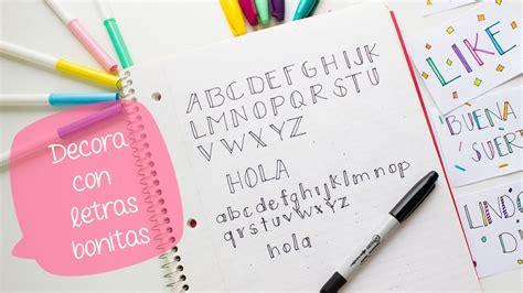 Escribe bonito con LETRAS DECORATIVAS 1// BigCrafts - YouTube