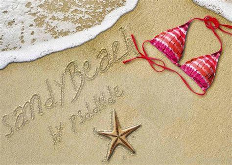 Escribir en arena de playa con Photoshop