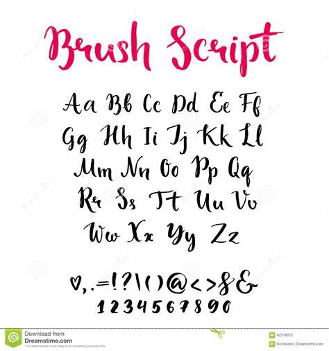 Escritura Del Cepillo Con Las Letras Minúsculas Y ...