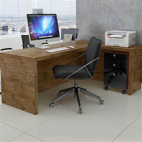 Escrivaninha/Mesa para Escritório com 3 Gavetas 100% MDF ...