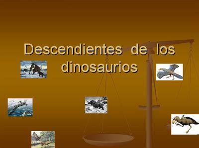 Escrivint ens descrivim!: Descendientes de los dinosaurios