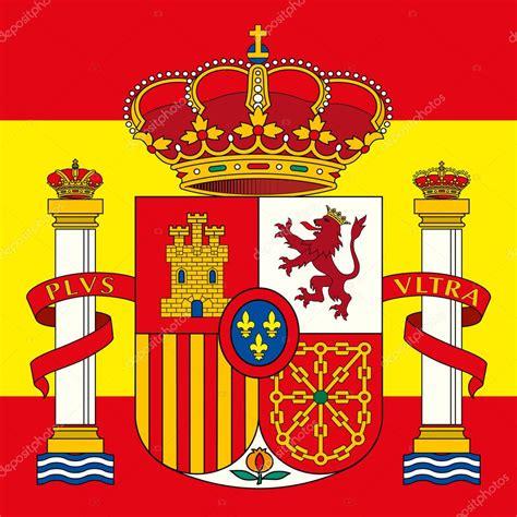 Escudo de España del brazo y bandera — Vector de stock ...