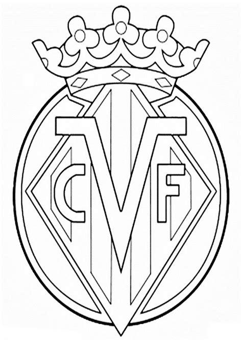 Escudos de futbol   Dibujos para colorear