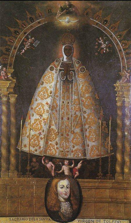 Escuela de Potosí, Virgen del Sagrario de Toledo, do. 1670 ...