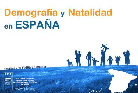 España: Demografía y Natalidad 2015   FADEP