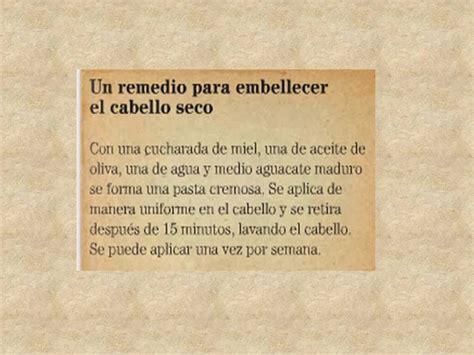 Español 3º / Quinto bloque : Recetario de remedios caseros