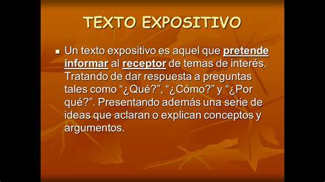 Español y Literatura: TEXTO EXPOSITIVO