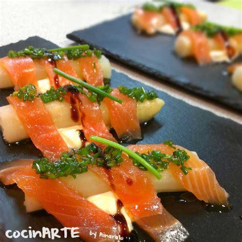 Esparragos con salmón ahumado | CocinARTE by Ainaralo