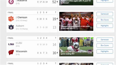 ESPN College Football Scores   College Football Scores ...