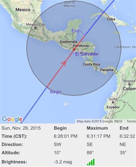 Estación Espacial se observó este domingo en El Salvador ...