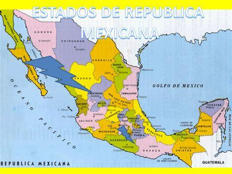 ESTADOS DE REPUBLICA MEXICANA.   ppt descargar