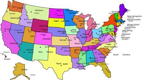 Estados Unidos Capitales Mapa · Gráficos vectoriales ...