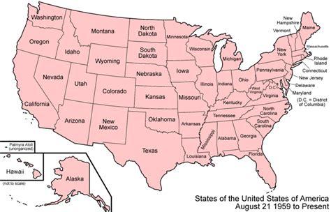 Estados Unidos de América: mapa político (50 estados ...