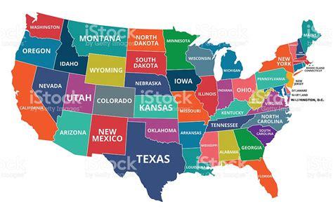 Estados Unidos Mapa Illustracion Libre de Derechos ...