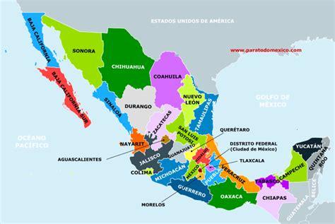 Estados y Capitales de México: mapa con los 32 Estados