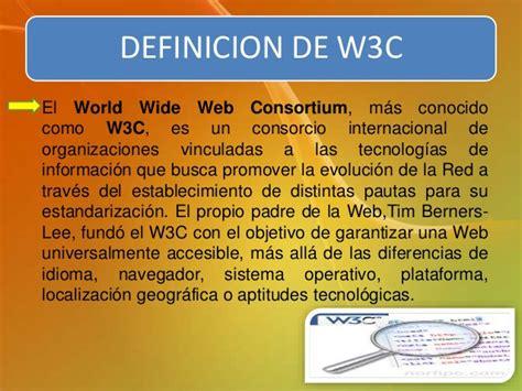 Estándar W3C para el desarrollo web