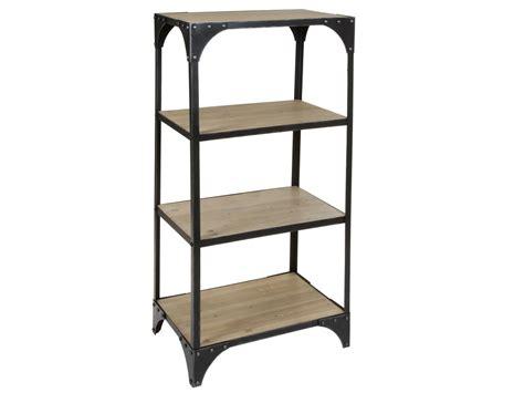 Estantería hierro y madera 60 cm ancho estilo industrial