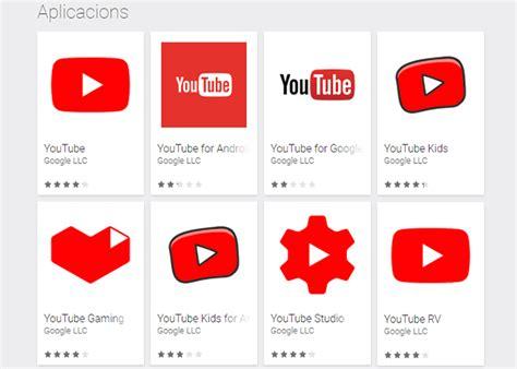 Estas son todas las aplicaciones de YouTube que hay en ...