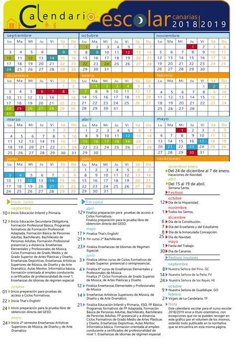 Este es el calendario escolar de Canarias para el curso ...