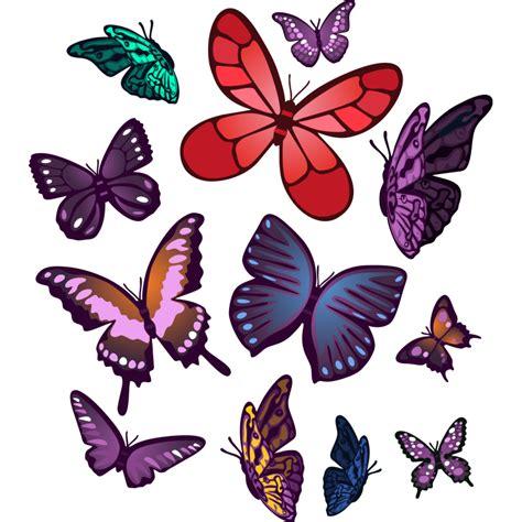 Este vinilo decorativo de doce mariposas de colores de ...