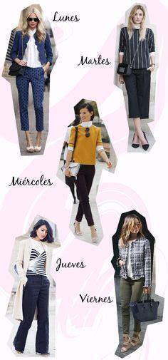 estilozas: 5 looks de oficina para la semana | Outfit para ...