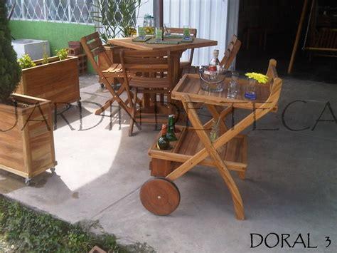 Estos muebles en madera Teca para jardin (Mesas,Sillas ...