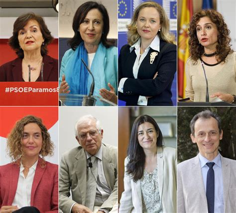 Estos son los ministros del Gobierno de Pedro Sánchez, el ...