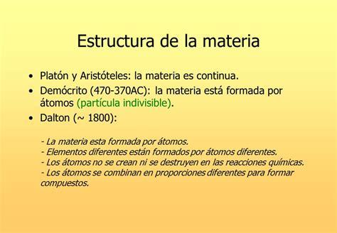 Estructura de la materia   ppt descargar
