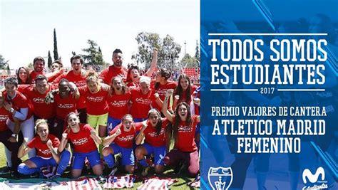 Estudiantes premia al Atlético de Madrid Femenino