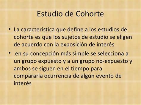 Estudios de cohorte y casos y control
