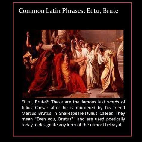 Et tu, Brute?   Julius Caesar #betrayal #Shakespeare ...