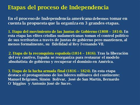 Etapas del proceso de Independencia   ppt video online ...
